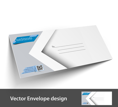 Paper envelope templates for your project design illustration.  Vector