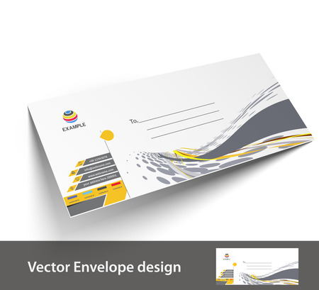 Paper envelope templates for your project design, vector illustration.  Vector