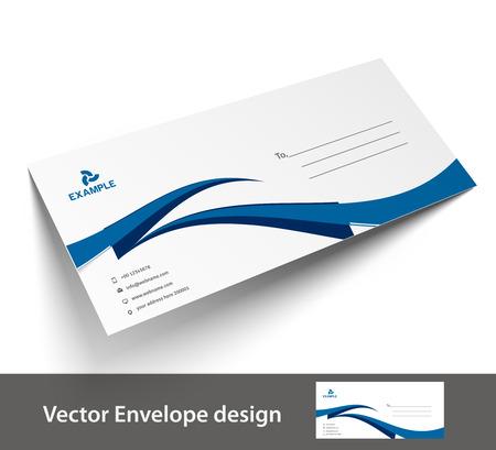 letter head: Paper envelope templates for your project design, vector illustration.