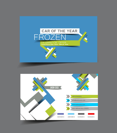 visiting card: Vector Business Card Set Template.