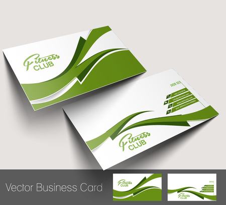 visiting card: Fitness Center business card set  Illustration