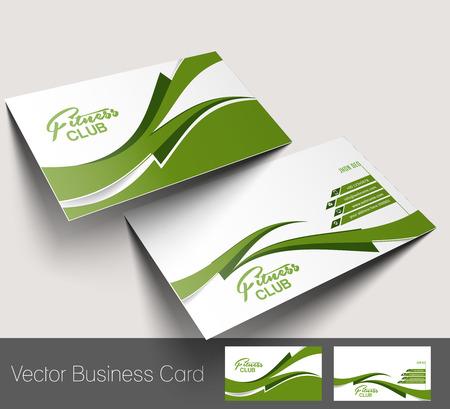 name card design: Fitness Center business card set  Illustration
