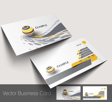visiting card design: Business card set, isolated with soft shadow design.