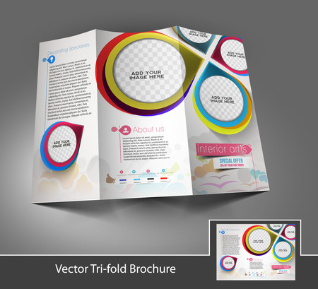 Tri-fold Interior Designers Mock Up Brochure Design