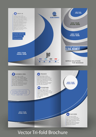 invitation barcode: Tri-Fold Corporate Business Store Mock up & Brochure Design