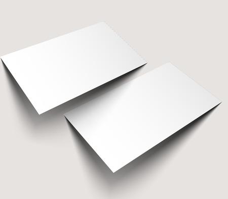 leaflet design: Business Cards Blank Mockup Design Illustration