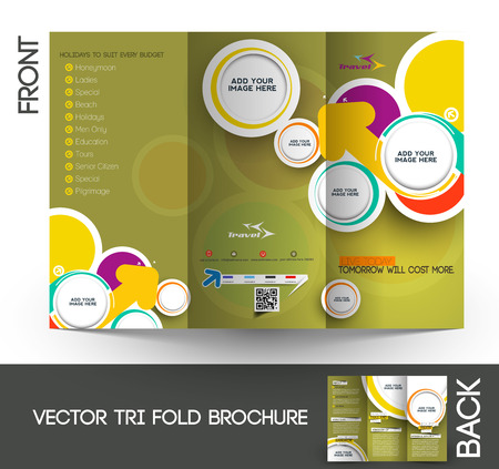 Tri-Fold Travel Mock up & Brochure Design Zdjęcie Seryjne - 27456445