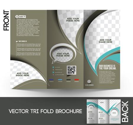 Corporate Business Tri-Fold Mock up & Brochure Design  일러스트