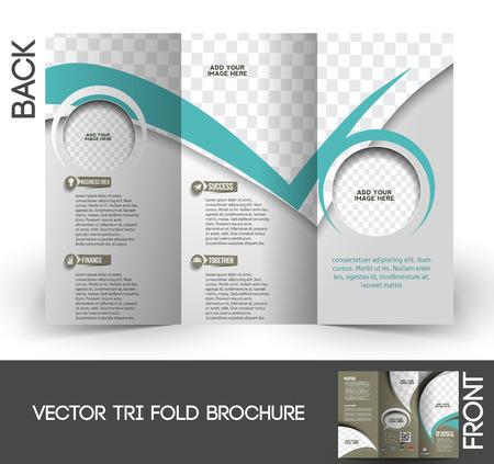 Compañero de Tri-Fold Mock up & Folleto Diseño Foto de archivo - 27456457