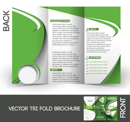 Tennis Competition Tri-Fold Mock up & Brochure Design  Vector