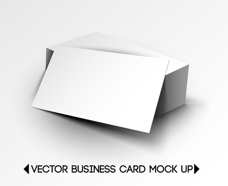 3D Vector Business Card Mock Up Design  Vector