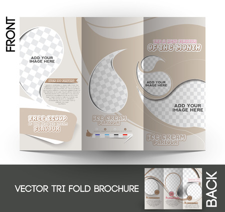 stall: Ice Cream Store Tri-Fold Mock up & Brochure Design
