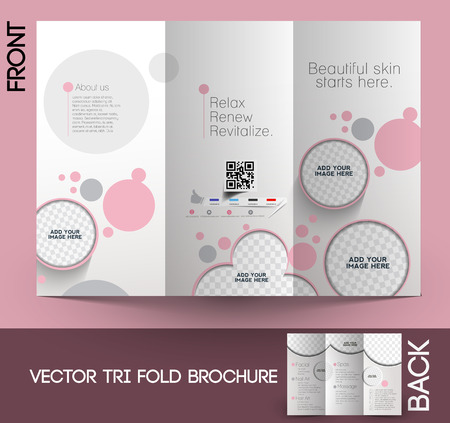 Beauty Care & Salon Tri-Fold Mock up & Brochure Ontwerp