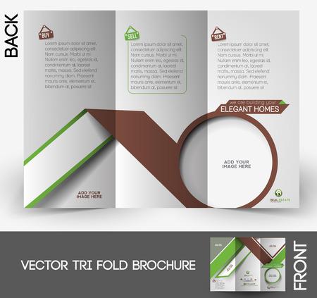 tri fold: Real Estate Agent Tri-fold Mock up & Brochure Design