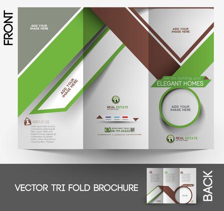 Agent immobilier Tri-fold maquette et conception de la brochure