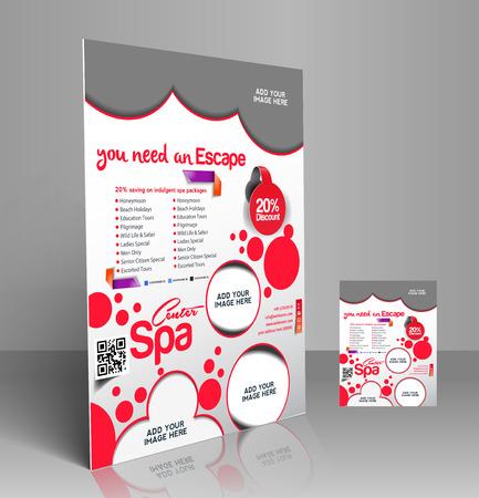 Beauty Salon Flyer & Poster Template Design Vector