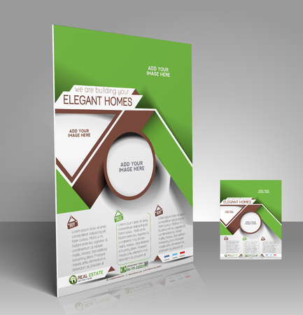 Real Estate Flyer & Poster Template Design Vector