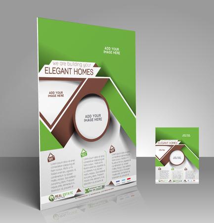 Real Estate Flyer & Poster Template Design Vector