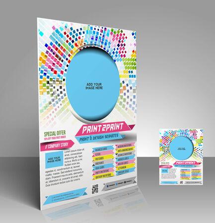 Press Color Management Flyer & Poster Template Design Vector