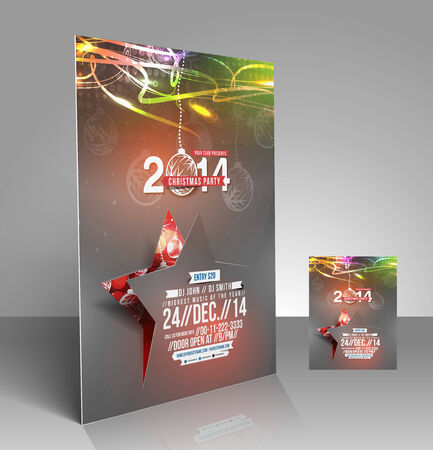 new year poster: Christmas & New Year Flyer & Poster Template Design