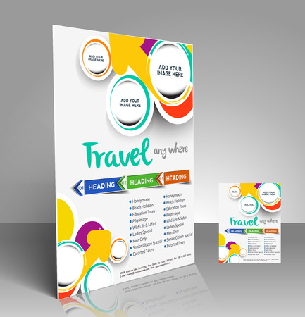 Travel center Flyer & Poster Template Design Vector