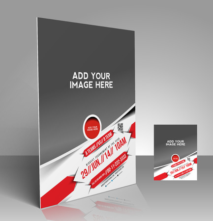 Boxing Competition Flyer & Poster Template Design Vector