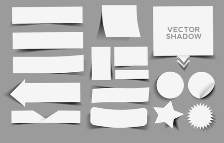 turn up: Collection of vector label with shadow design