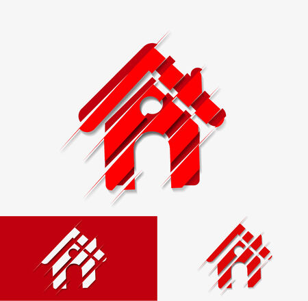 home security system: Vector home icon design with isolated.  Illustration