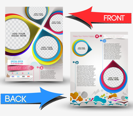 Architecture & Interior Decorator Front & Back Flyer Template  Illustration