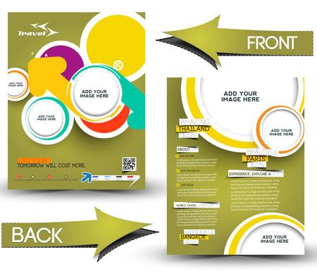 coworker banner: Travel Front & Back Flyer Template  Illustration