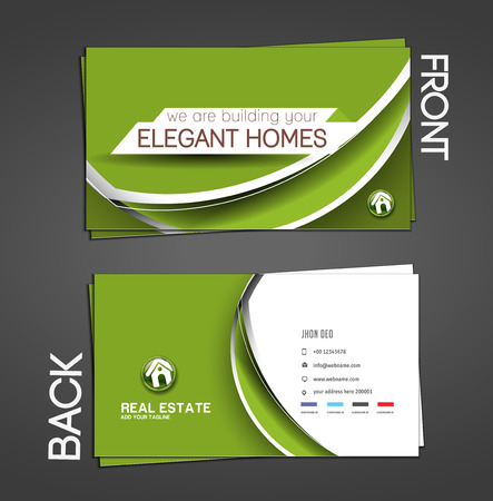 Real Estate Agent Business Card Set Template  Vector