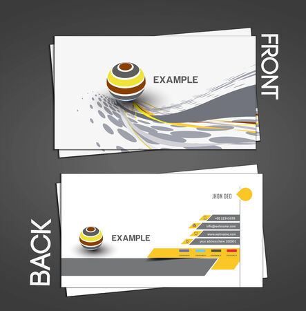 visiting card design: Vector business card set, isolated with soft shadow design