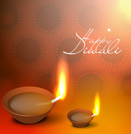 Vector 3d diya design for diwali festival.  Vector