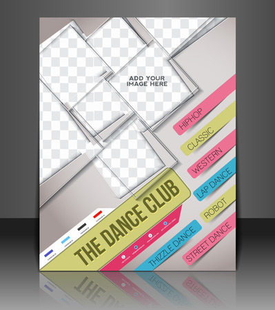 dance school: Dance Club Front Flyer & Poster Cover Template