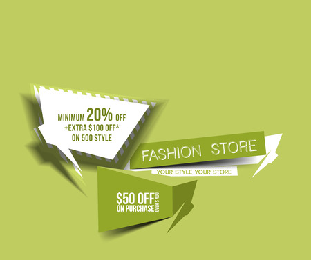 Discount Web Banner Design template. Vector