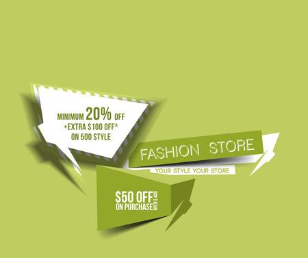 Discount Web Banner Design template. Vector