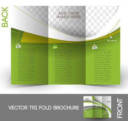 Real Estate Agent Tri-Fold Mock up & Brochure Design  Ilustração