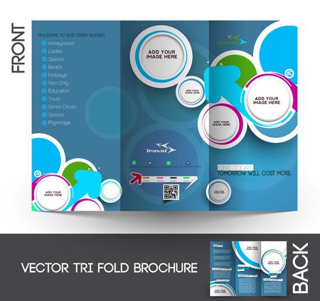 Travel Tri-Fold Mock up & Brochure Design
