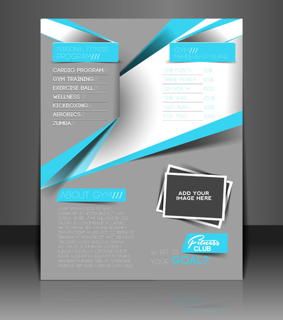 Fitness Center Flyer & Poster Template Design Vector