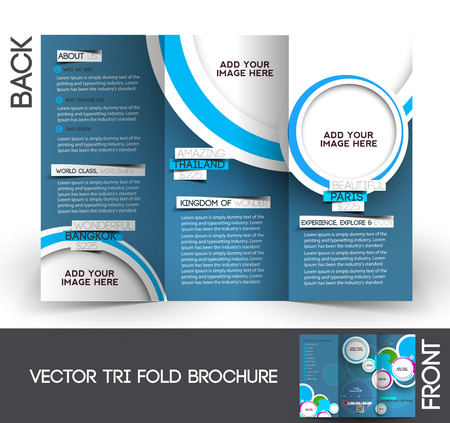 Travel Tri-Fold Mock up & Brochure Design  Vector