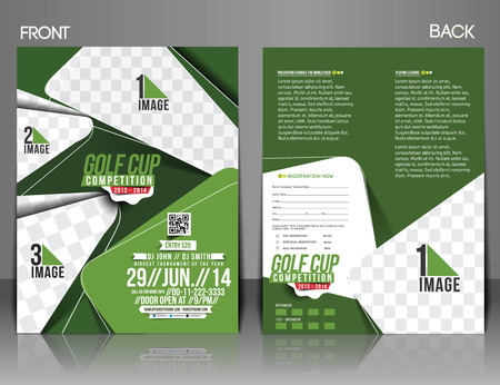 tournament: Golf Tournament Front & Back Flyer Template