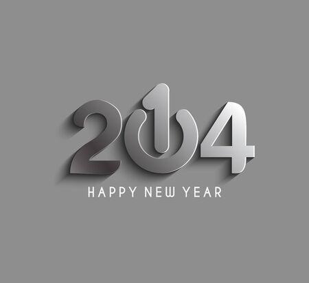Happy new year 2014 Text Design Vector