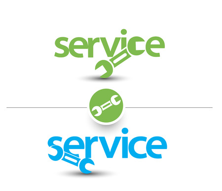 auto service: Set Of Service Web Icon Design Element.  Illustration