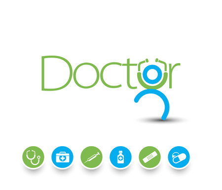 doctor tablet: Medical icons and symbols vector set.