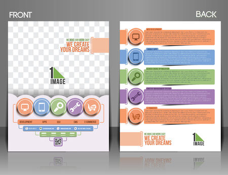 productivity system: Web Service Front & Back Flyer Template