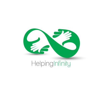 amistad: Símbolo del Centro de ayuda, diseño vectorial aislado Vectores