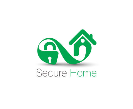 home security: Symbol of Home Security, isolated vector design