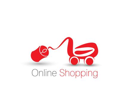 shoping bag: Shopping Cart Icon, Shopping Basket Design.  Illustration