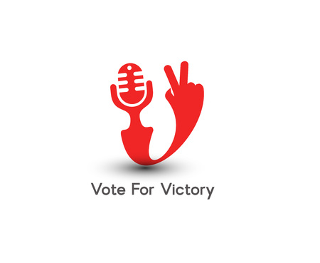 victory sign: Symbol of Victory, isolated design