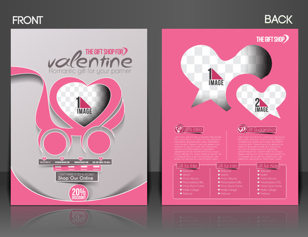 Valentines Day Flyer & Poster Cover Template Vector